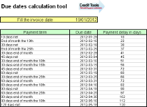 Due dates calculation