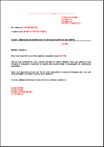request of information letter
